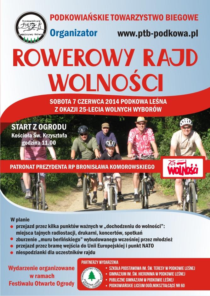 Plakat Rowerowy Rajd Wolności